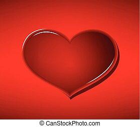 pohár, szív, képben látható, piros háttér, valentin nap