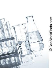 pohár, világos, palackok, folyékony
