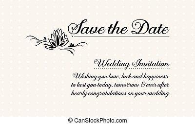 pohled, svatba, vektor, ilustrace