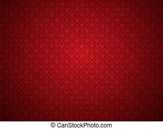 pohrabáč, červené šaty grafické pozadí