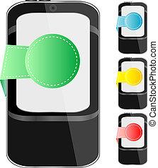 pohyblivý telefonovat, moderní, dát, bystrý