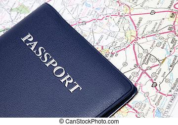 pohybovat se, cestovní pas