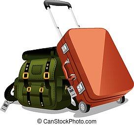pohybovat se, zavazadla