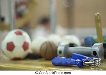 poids, physiothérapie, main, dumbell, exerciser, rééducation
