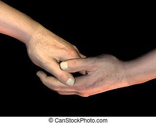 poignée main, 4