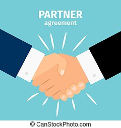 poignée main, association, business