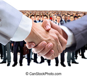 poignée main,  Business, équipe