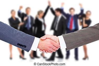 poignée main,  Business, réunion