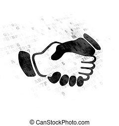 poignée main, concept:, finance, fond, numérique