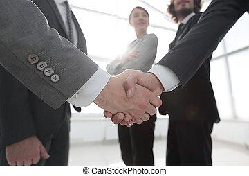 poignée main, concept, professionnels