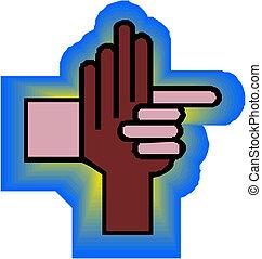 poignée main, icône