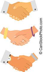 poignée main, iconset, business