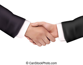 poignée main, illustration