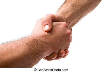 poignée main