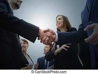 poignée main, poignée main,  Conce,  Business, gens