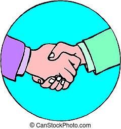poignée main, symbole