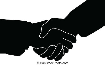 poignée main, -, vecteur