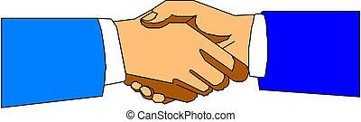 poignée main, vecteur, symbole