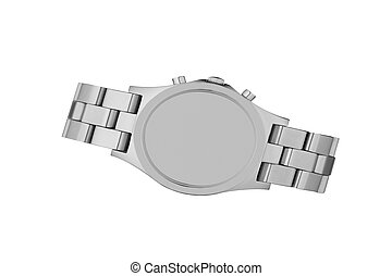 poignet, blanc, montre, isolé