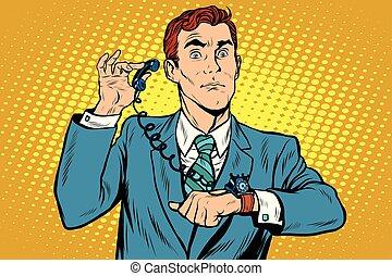 poignet, gadget, montre, téléphone