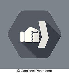 poing, unique, vecteur, isolé, illustration, icône
