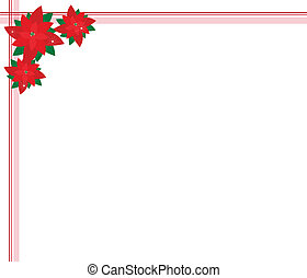 Poinsettia Flowers Forming A Beautiful Christmas Background