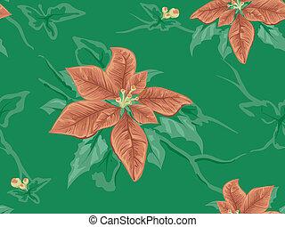 Poinsettia Seamless Background
