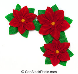 Poinsettia - Three felt poinsettias- symbol of christmas...