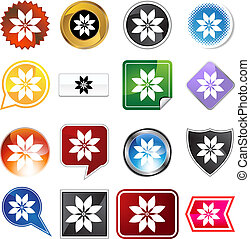 poinsettia variety set vector illustration image scalable to...