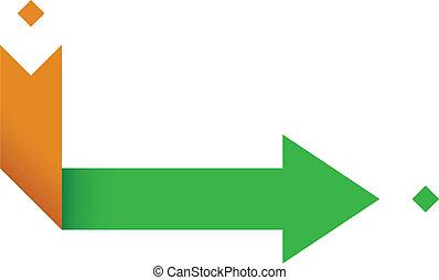 Point A to Point B Arrow - Vector Illustration of Arrow...