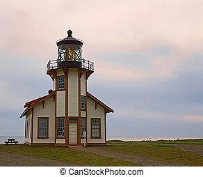 Point Cabrillo Lighthouse. Mendocino, California - ...