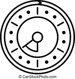 Point clock icon, outline style