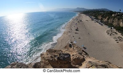 Point Dume aerial view - Aerial view of panoramic Point Dume...