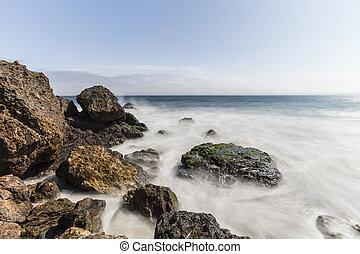 Point Dume Malibu California Pacific Ocean Rocks with Motion Blur
