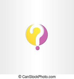 point interrogation, logo, jaune, pourpre