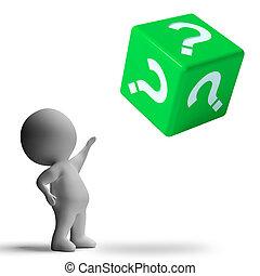 point interrogation, sur, dés, projection, confusion