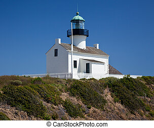 Point Loma Lighthouse - Old lighthouse on Point Loma near...