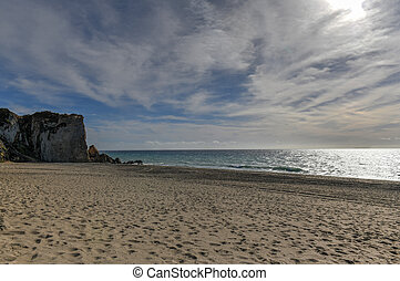 point, malibu, -, état, dume, californie, plage