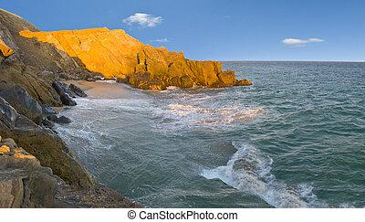 Point Mugu Beach, CA - Colorful Evening at Point Mugu Ocean...