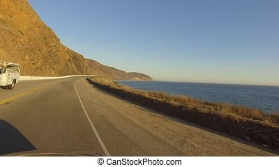 Point Mugu Rock alone Pacific Coast High.