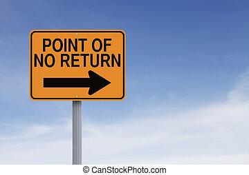 point, non, retour