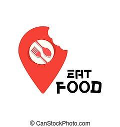 point, nourriture, image, vecteur, fond, logo, manger