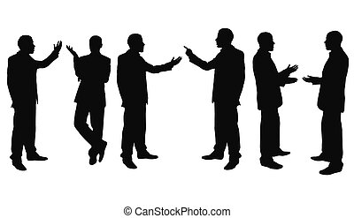 point of view - businessmen isolated on the white background