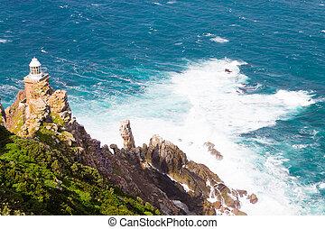 point phare, afrique, cap, sud, vue