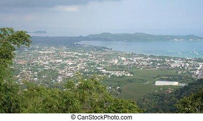 point, phuket., célèbre, île, lumière, buddha., grand jour, ...