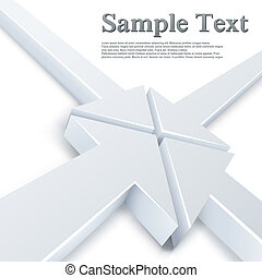 point, résumé, flèches, une, 4, blanc, réunion