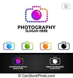 point, résumé, logo, appareil photo, photographie