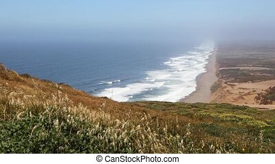 Point Reyes Coastline Loop ? California - Waves Break on the...