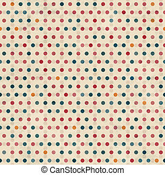 point seamless pattern with grunge effect