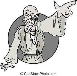 Point sign old man